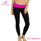 Purple Waist Sportwear Sexy Leggings Sheathy Long Workout Leggings Pants