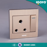 Igoto Alloy Frame British Standard BS 1gang 15A Switch Socket