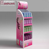 Wholesale Pink Floor Wood Daily Necessities Products Display Rack with Easy Storage