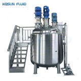 Homogenizer Blending Cream Jacketed Liquid Mixer Tank Heating Stainless Steel Mixing Tank with Agitator Heater