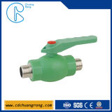 Pn20 PP Pipe Ball Valve with Brass Ball Fittings