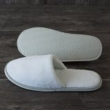 Cheap White Hotel Slipper for Men / Women Disposable Plain Terry Slippers