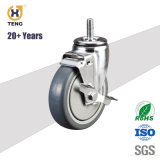 Industry 3/4/5/6-Inch PU/TPR/PA/PP/Rubber Caster Wheel with Side Brake