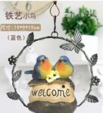 Metal Craft Hanging with Welcome Garden Decoration