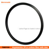 Asymmetric Wide Rims 29er Carbon Rims MTB 33mm Wide Mountain Bicycle Rim Tubeless Hookless