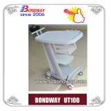 Hospital Equipment, Medical Mobile Trolley, Cart for Portable Ultrasound Scanner, EKG, ECG, with Brake, Made of ABS, Good Price,