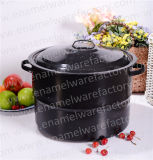 21qt Enamel Stock Pot Enamel Cooking Pot Enamel Steamer