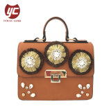 Yc-H021 Fashion Tassels Crystal Diamante Faux Leather Lady Bag
