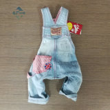 Pet's Clothing Denim Fabric with Embossing