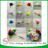 Lot Simulation Flannel Rose Flower Bouquet Home Wedding Table Decor