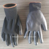 Cheap Wholesale Black PU Work Gloves PU Coated Glaves Safety PU Gloves Working Industrial Gloves