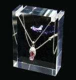 Custom Clear Acrylic Jewelry Necklace Display Set Manufacture