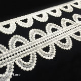 Latest Spot Circle Design Trimming, Lace Fabric Trim for Curtain Decoration L126
