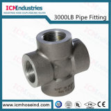 3000 Lb High Pressure Threaded Steel Pipe Fitting Carbon Steel Cross