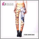Hot Sell Cheap Digital Printing Ladies Leggings Animal Printing Pants