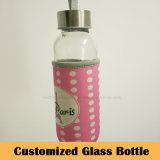 Dtm Customized Portable Glass Bottle for Drinking