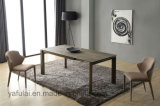 Home Furniture Extension Square Metal Ceramic Dining Table