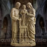 Stone Carving Marble Religious The Holy Family Statue Sculpture Clay Model
