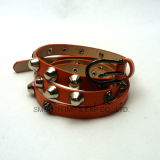 Fashion Rivet Multicolor PU Leather Pin Buckle Belt Garment Accessories