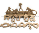 OEM Wooden Animal Shaped Baby Chew Toy Teether