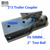 """Galvanized Steel Fit 50mm/2"""" Tow Ball Hitch Trailer Coupler"""