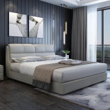 Simple Modern Genuine Leather Soft Bed for Home Hotel Bedroom Adult Double Bed
