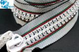 No. 10 Rhinestone Material Diamond Zipper Plastic Teeth Nylon Type Zipper for Garments (Grey+green+red/Clear/ZP-20)
