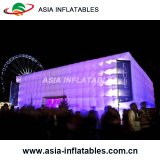 Inflatable Outdoor Event Exhibition Cube Tent with LED Lights