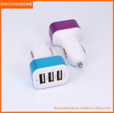High Quality 2A Car Charger 3 USB 4.1A Large Capacity Car Charger with Aluminum Alloy Steel