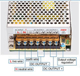 Fan Cooling 12V 33A 350W LED CCTV Switching Power Supply