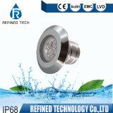 Vinyl Pool V4a RGB 316L Stainless Steel Underwater Lights Bulb 12V White COB 6W LED Swimming Pool Light