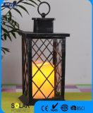 Black Plastic Flameless Candle Light Candle Lantern for Decoration
