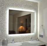 Big Round Rectangle LED Mirror for Bathroom Showers Glass