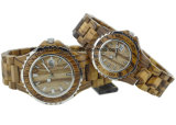 Pair Wooden Watches Lover Gift Watch Set with Japan Movement