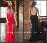 Design Evening Dress Backless Crystals Party Prom Gown E81064
