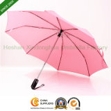 Auto Open Pink Rain Three Fold Umbrella for Ladies (FU-3821ZFA)
