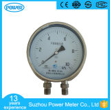 "6""150mm Stainless Steel Bottom Connection Lower Differential Pressure Gauge with Flange"