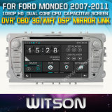 Witson Car DVD for Ford Mondeo 2007-2011 Car DVD GPS 1080P DSP Capactive Screen WiFi 3G Front DVR Camera
