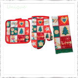 Cheap Factory Wholesale Christmas Halloween Valentine Kitchen Decoration Square Towel and Promximy Gloves for Festival Christmas Promotional Gifts
