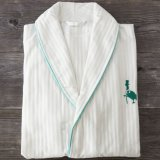 100% Cotton Waffle Hotel Embroidery Pajamas Bathrobe