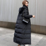 Winter Korean Style Lady Thicker Warmer White Duck Down Padded Jacket Women Real Fox Fur Puffy Hooded Down Jackets Coat