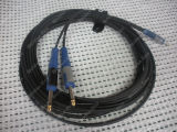 "Auido Link Cable 3.5 Stereo Male to 2X 1/4"" Mono"