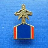 Irregular Shape Medal Gold Plated Badge Lape Pin (GZHY-BADGE-021)