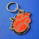 Soft Enamel Keychain with Key Parts (GZHY-KC-016)