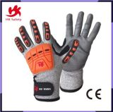 TPR Anti Impact Resistant Bamboo Fiber Nitrile Coated Work Gloves