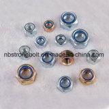 Hex Nylon Lock Nut with White Ring