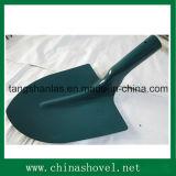 Shovel Green Powder Coated Steel Shovel Farming Spade