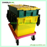 Different Color Customized Nesting Plastic Container with Dolly