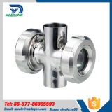 Stainless Steel Food Grade Cross Four Way Sight Glass
