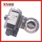 38mm SS304 Weld Pneumatic Actuator Butterfly Valves with Double Acting